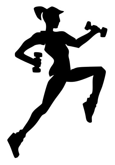 Fitness girl silhouette clipart clipart kid