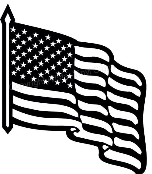 American flag black. Clip art and