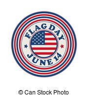 ... Flag Day Stamp - Flag Day Celebratio-... Flag Day stamp - Flag Day celebration stamp over white.-10