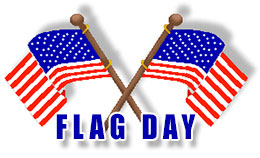 Flag Day With Crossed American Flags-Flag Day with crossed American flags-12