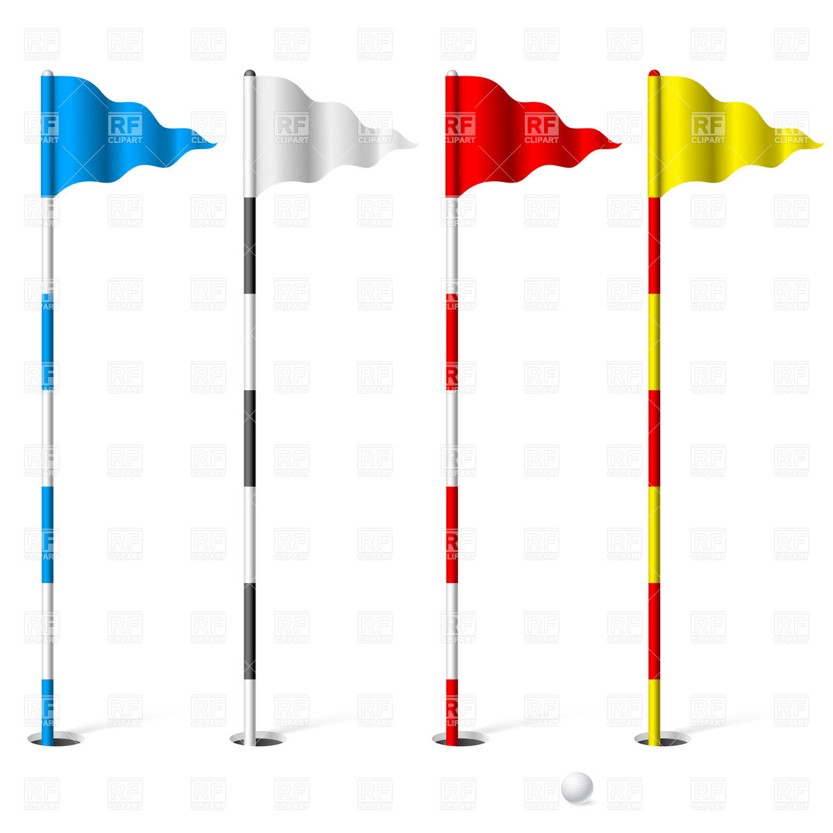 Flags Of The Golf Course 7360 Design Ele-Flags Of The Golf Course 7360 Design Elements Download Royalty Free-3