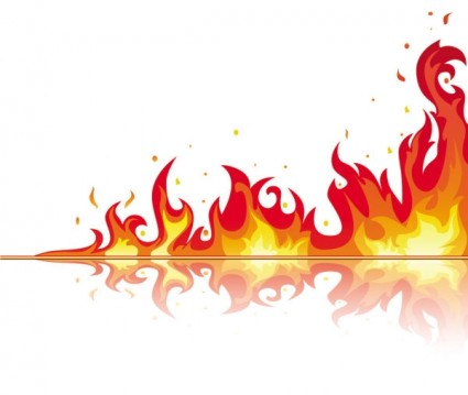 Flame Border Clip Art Beautiful Flame Vector Clip 04