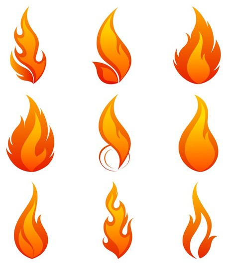 Flame English Letters 02; flame icon 1