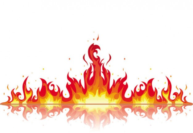 Flames flame clip art vector flame graphics image 4
