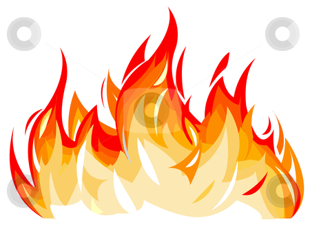 Flames Stock Vector Clipart Vector Illustration Of Flames By Igor