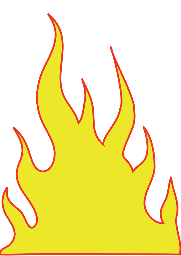 Flames Yellow Clipart Vector Clip Art Online Royalty Free Design