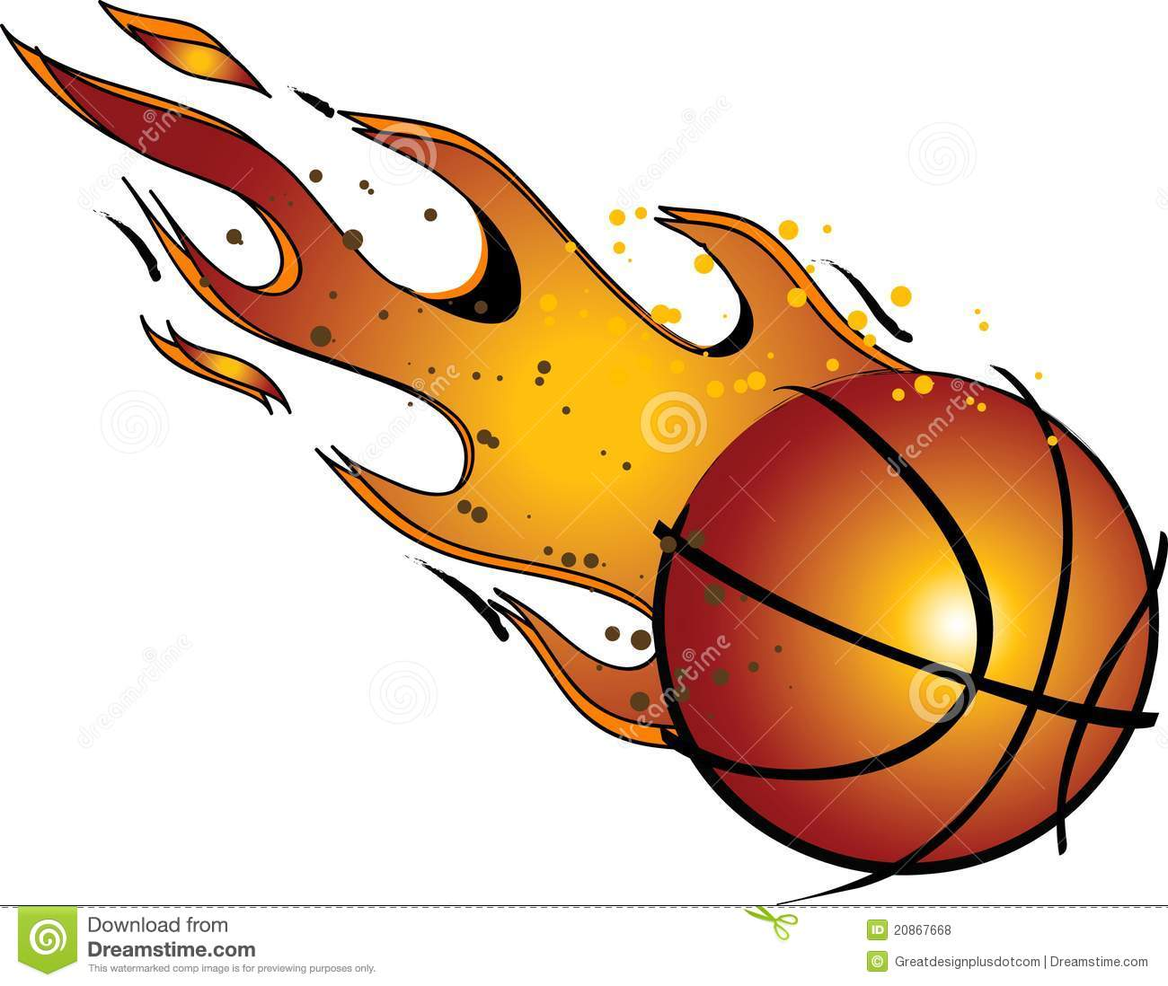 Flaming Basketball Vector Clip Art Royalty Free Stock Photos