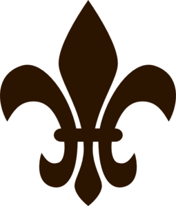 Fleur de lis darkbrown clip art at clker vector clip art