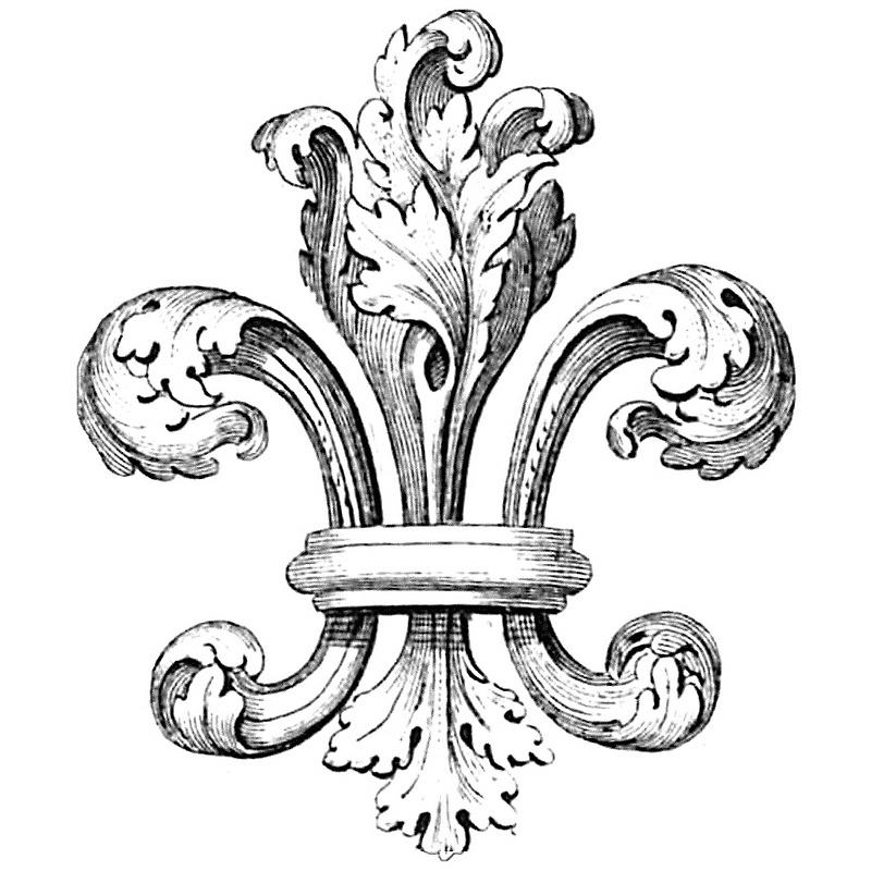 Fleur De Lis History : Fantastic Lablanche Silicone Stamp Fleur De