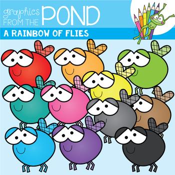 . ClipartLook.com A Rainbow of Flies Clipart Set
