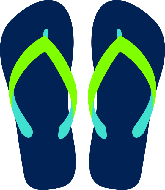 flip flop clipart black and white-flip flop clipart black and white-1