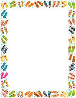 Flip Flop Border - Summer Border Clip Art