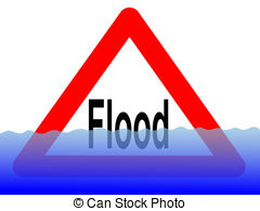 ... Flood Sign With Water - British Floo-... flood sign with water - British flood sign with rising water... ...-12