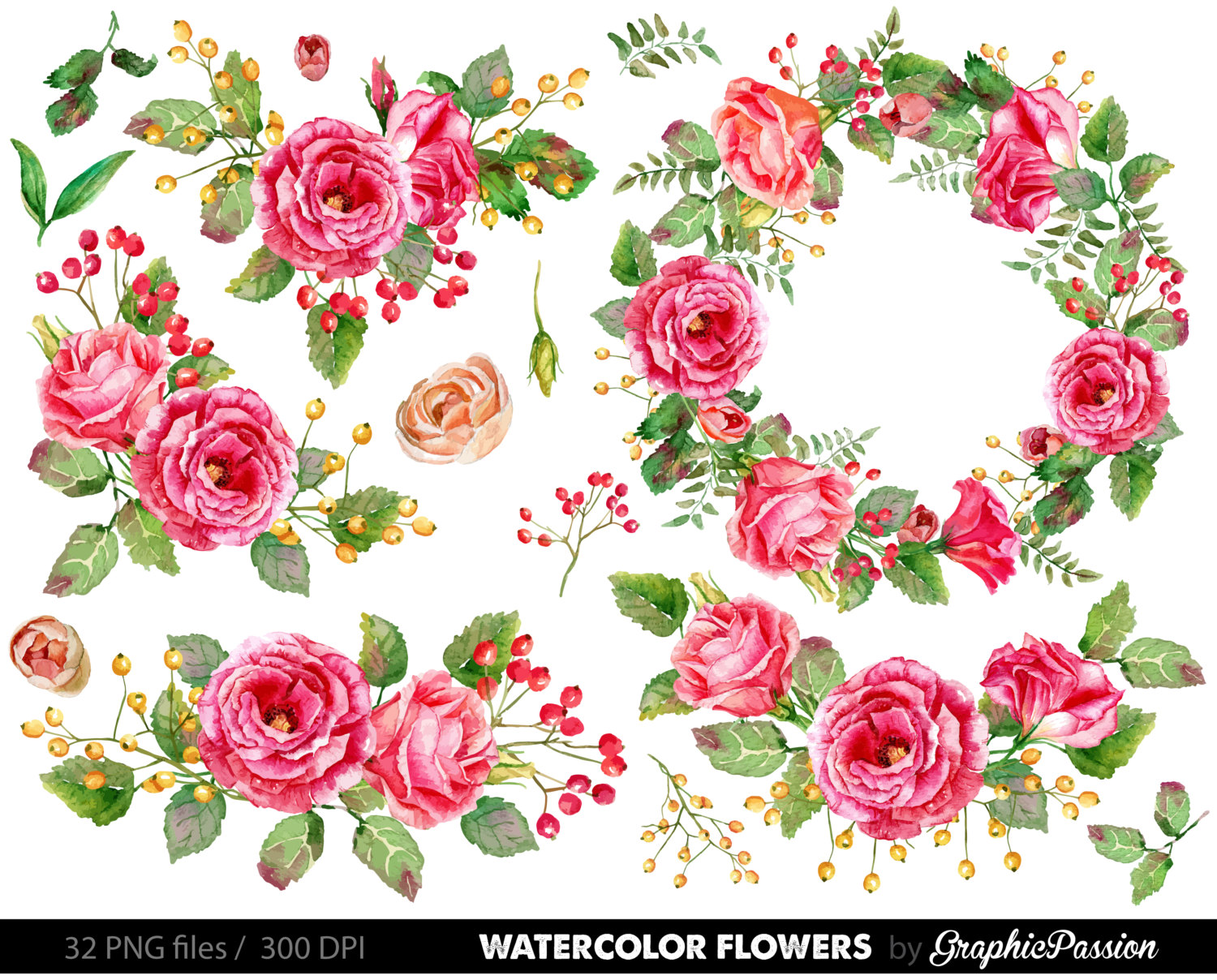 ... Floral Bouquet Clipart, wedding flowers clip.