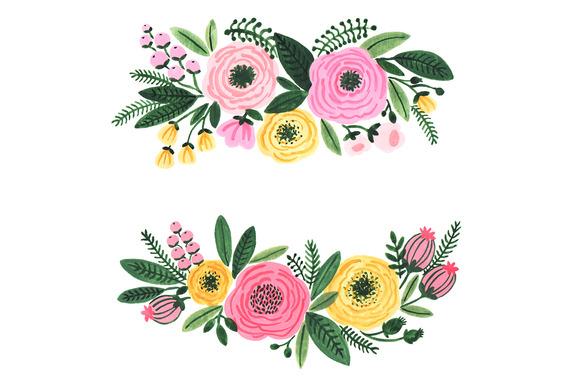 Floral Clipart Flower Wedding Graphics C-Floral clipart flower wedding graphics clip image-3