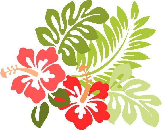 Floral Clipart, Flowers Clipart, Vector -Floral Clipart, Flowers Clipart, Vector Flowers Free, Luau Clipart, Hawaii Clipart, Free Clipart, Art Vector, Vector Clip, Hibiscus Clip-3