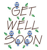 Floral frame u0026middot; Get well soon