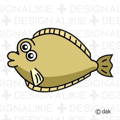 Flounder fish character