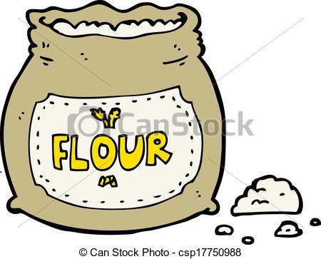 flour clipart. Vector Cartoon Bag Of Flour Stock Illustration Royalty Free