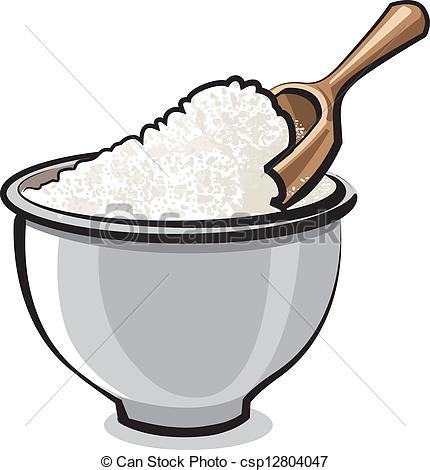 ... Flour in a bowl