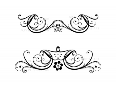 Flourish Clip Art Vintage Flower Clipart-Flourish Clip Art Vintage Flower Clipart Designs For Diy Wedding-13