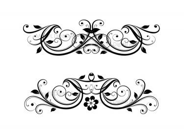 Flourish Clip Art Vintage . - Vintage Wedding Clipart