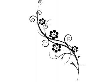 Flourish decorations flowers  - Flourishes Clipart