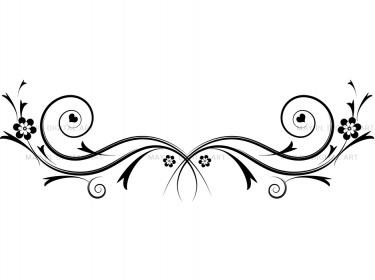 Flourishes decorations black  - Swirls Clip Art