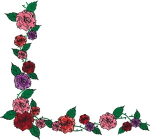 Flower Border Clipart-flower border clipart-2
