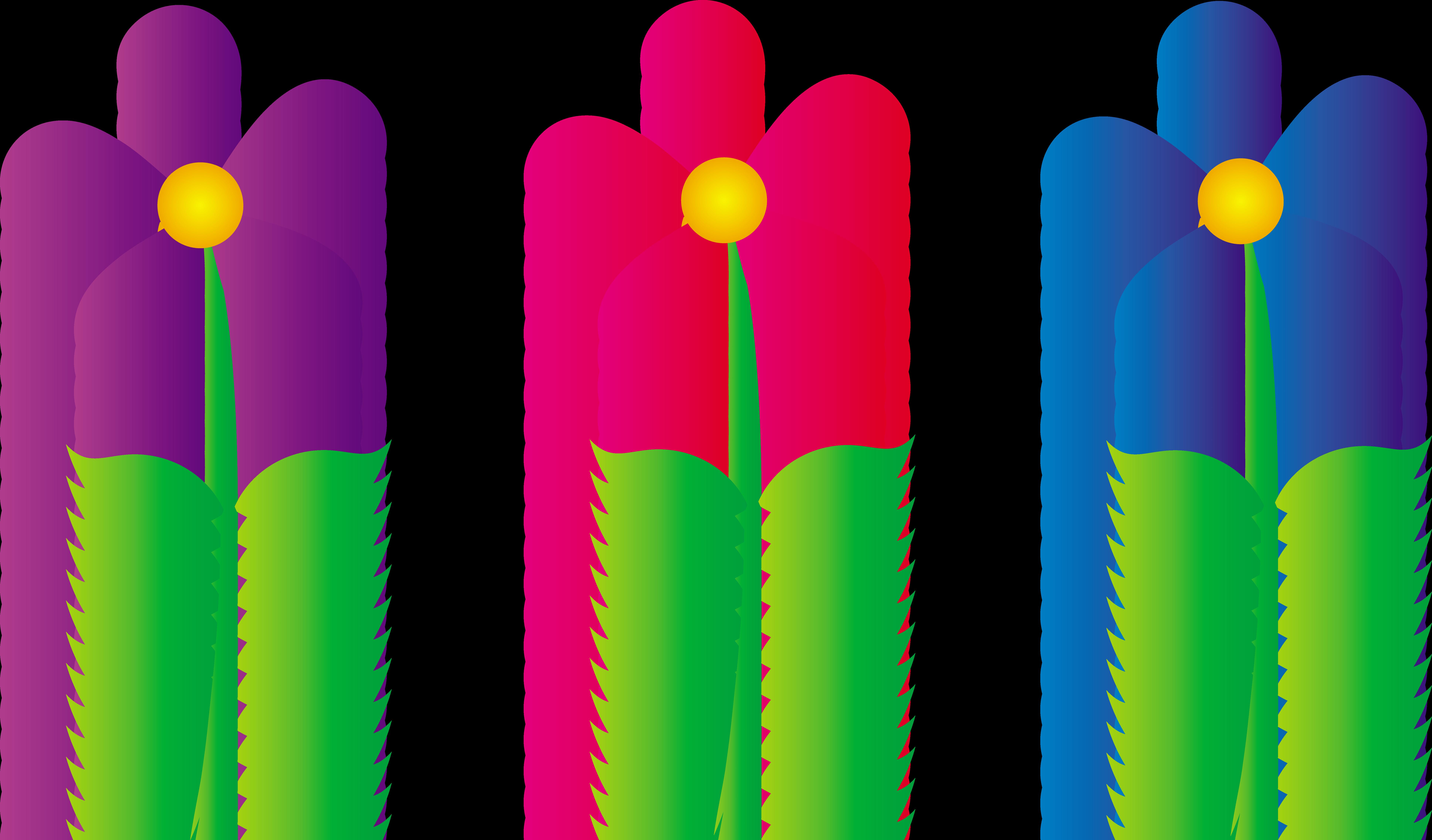 flower border clipart - Spring Flowers Clip Art Free