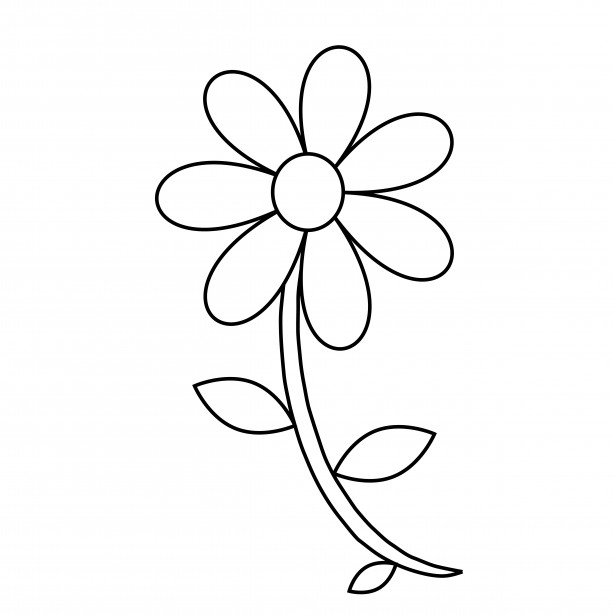 Flower Clip Art Outline-flower clip art outline-4