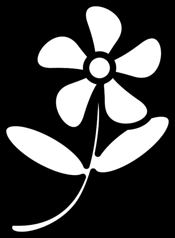 Flower Outline Clipart-flower outline clipart-6