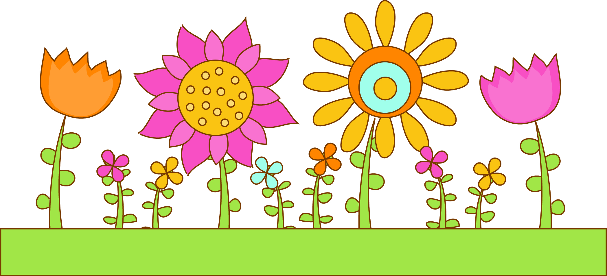 Flower Bed Clipart #1