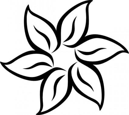 Flower black and white flower .