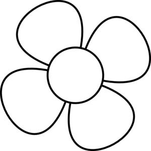 Flower Black White Clip Art At Clker Com-Flower Black White Clip Art At Clker Com Vector Clip Art Online-15