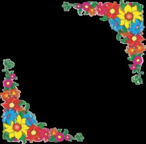 Flower Border Clip Art At Clker Com Vector Clip Art Online Royalty