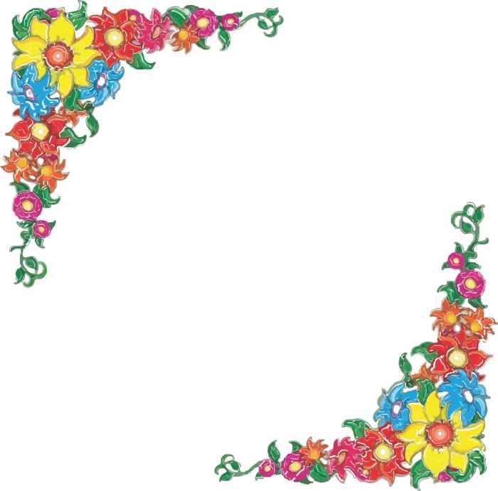 Flower border clip art free .
