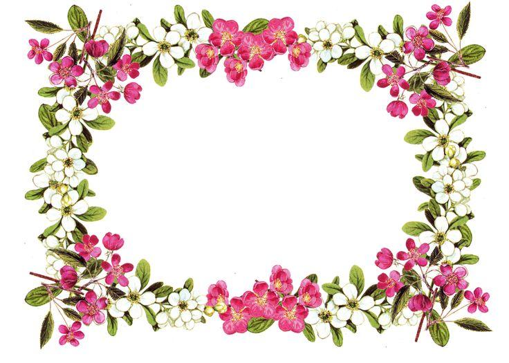 Flower Border Free Printable .-Flower border free printable .-4