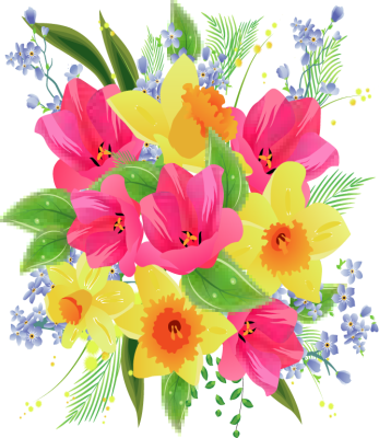 Flower bouquet clip art free - ClipartFest