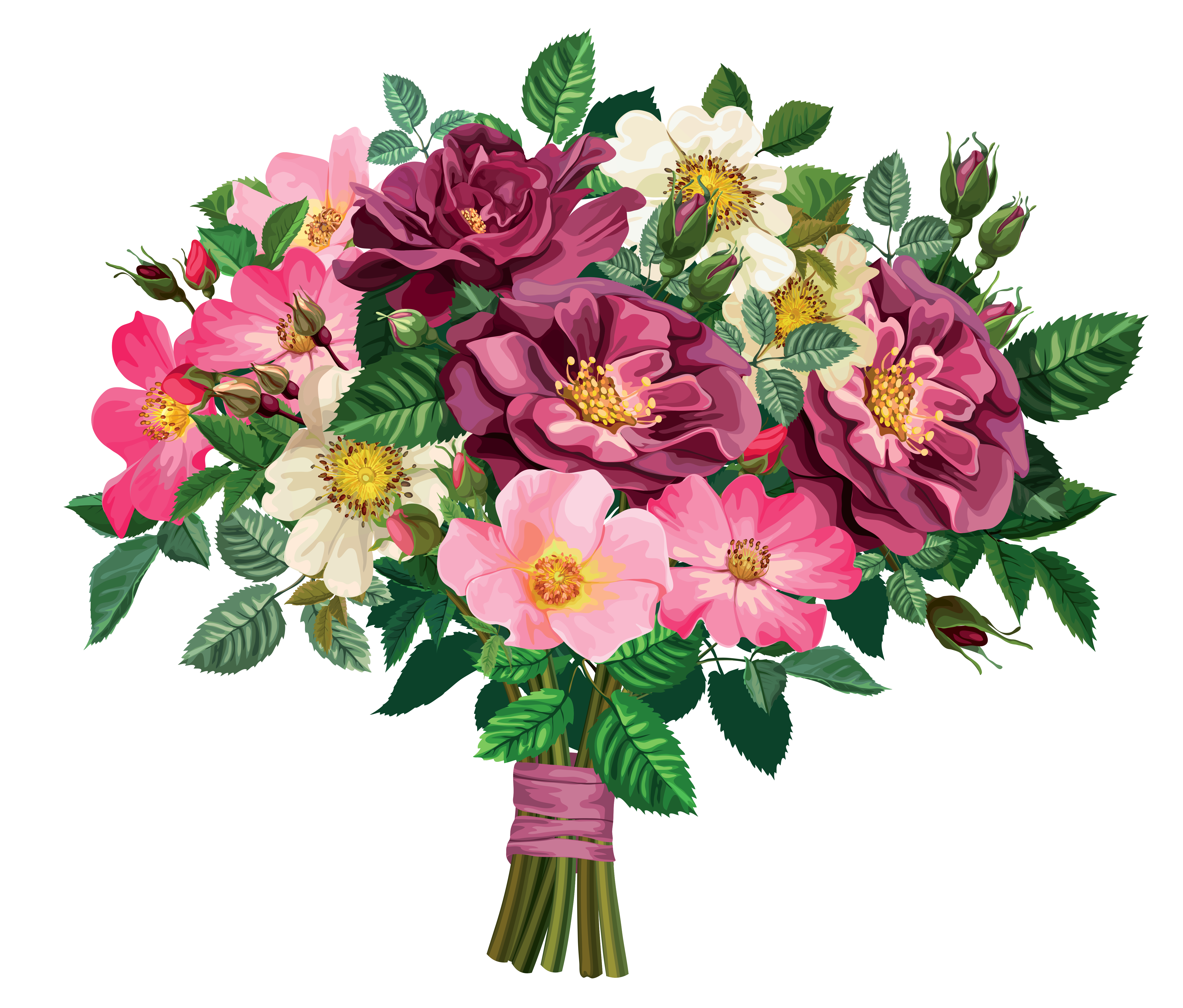 Flower Bouquet Clipart - .-Flower Bouquet Clipart - .-2