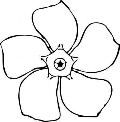 Flower Clip Art Free Black And White - C-Flower clip art free black and white - ClipartFox-9