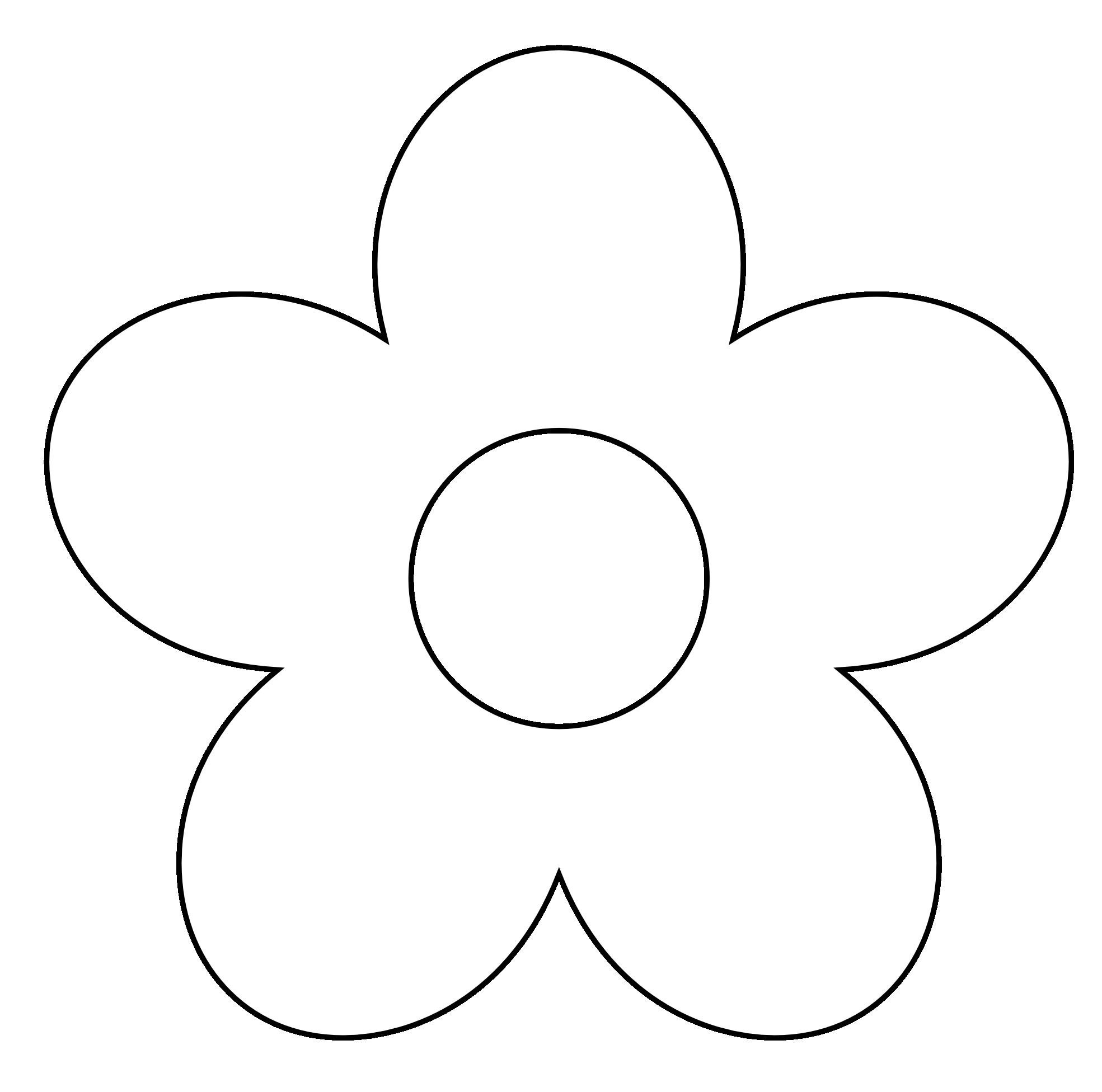 Flower Clipart Black And Whit - White Flower Clipart