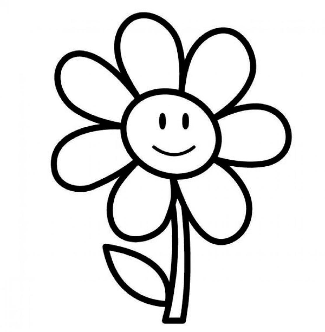 Flower Clipart Black And White .