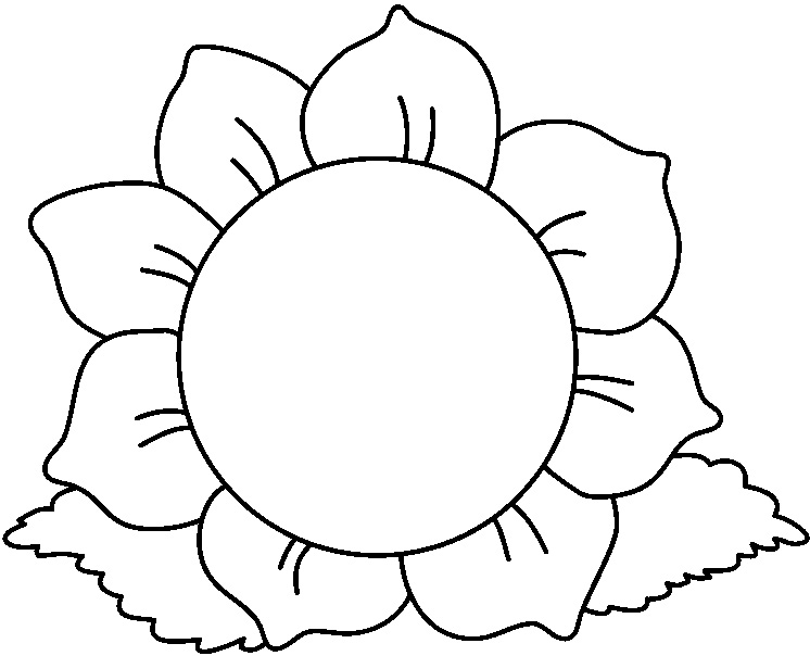 Flower Clipart Black And White Free Download