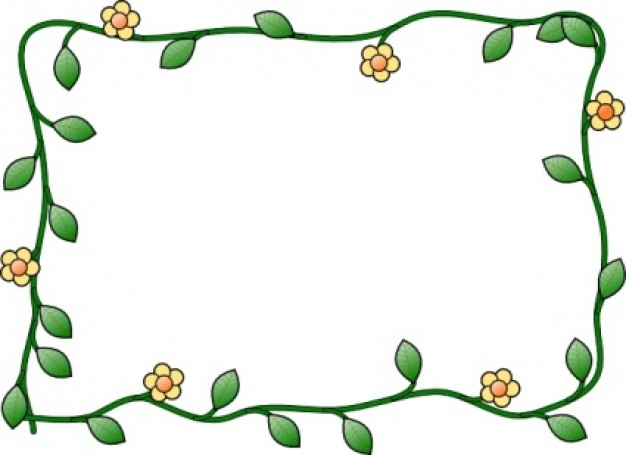 Flower Frame clip art Vector | Free Download