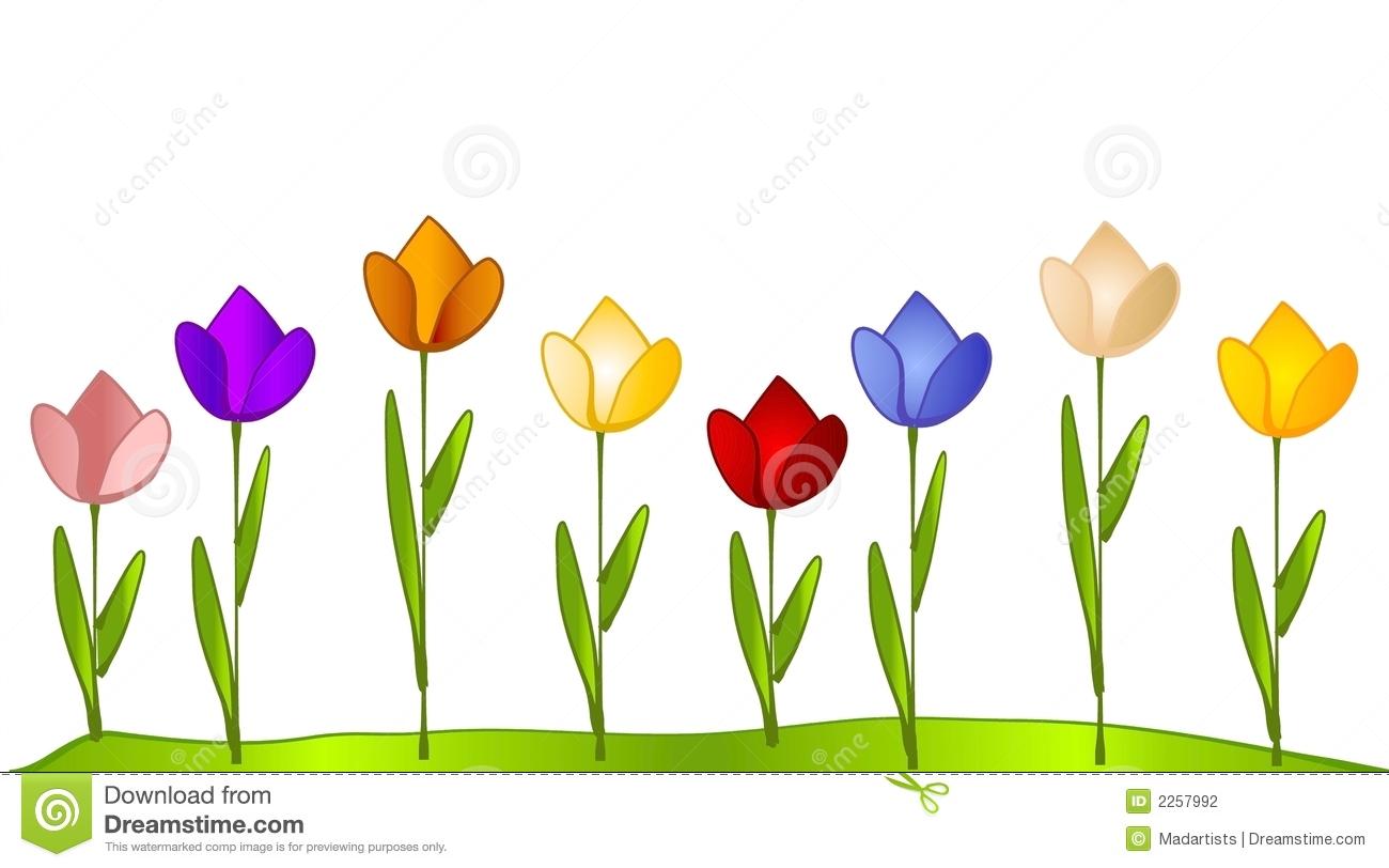 Flower Garden Border Clip Art - Flower Garden Clipart