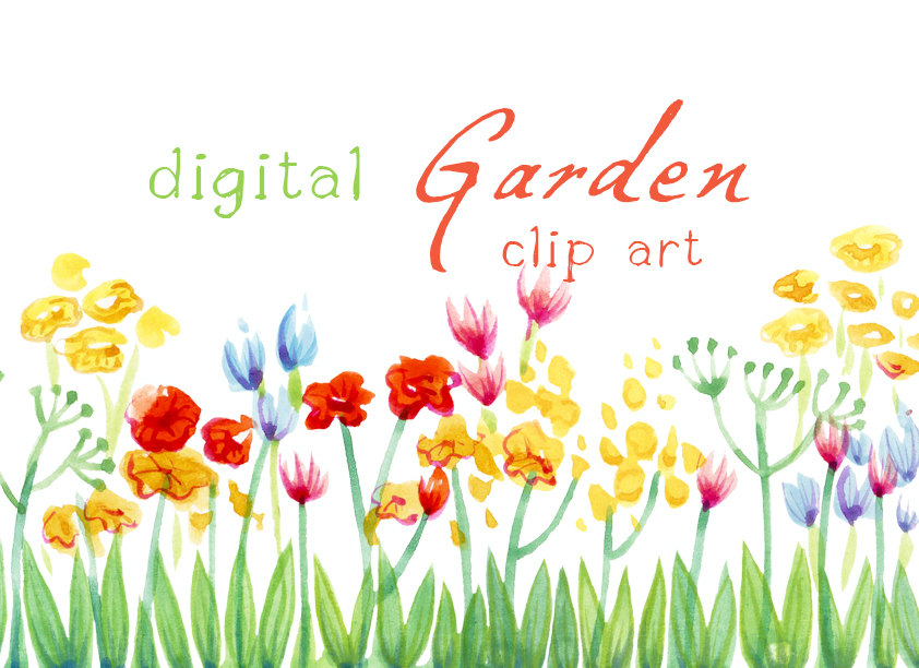 Flower Garden Clip And Alfa .