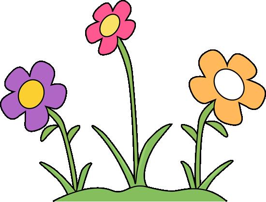Flower Garden Clip Art Image Flower Garden With Purple Pink And