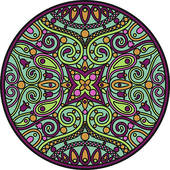 Flower Mandala and Paisley u0026middot; mandala