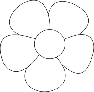 Flower outline, Clip art .